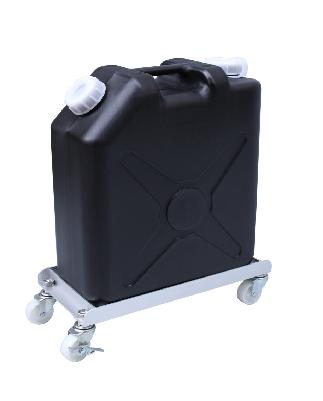 ごくかるキャリー ステンレス304 扁平缶20L用 液漏れ防止トレー付