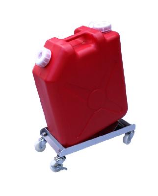 ごくかるキャリー ステンレス304 扁平缶20L用 液漏れ防止トレー付けいしゃ付