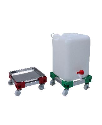 カラーAPステンレス角型ポリ缶用 液もれ防止トレー付